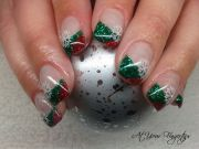 christmas gel nails holiday fun