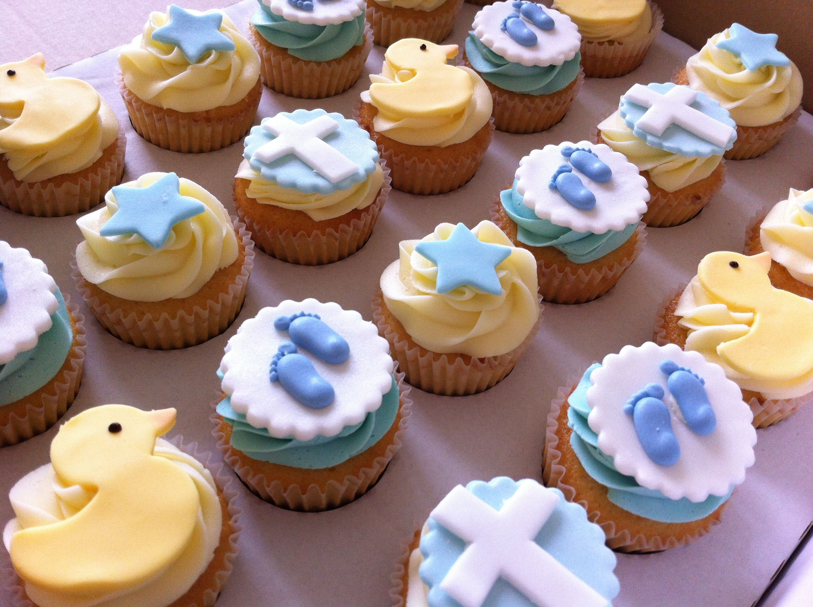 Cup Cake Ideas For Baptism