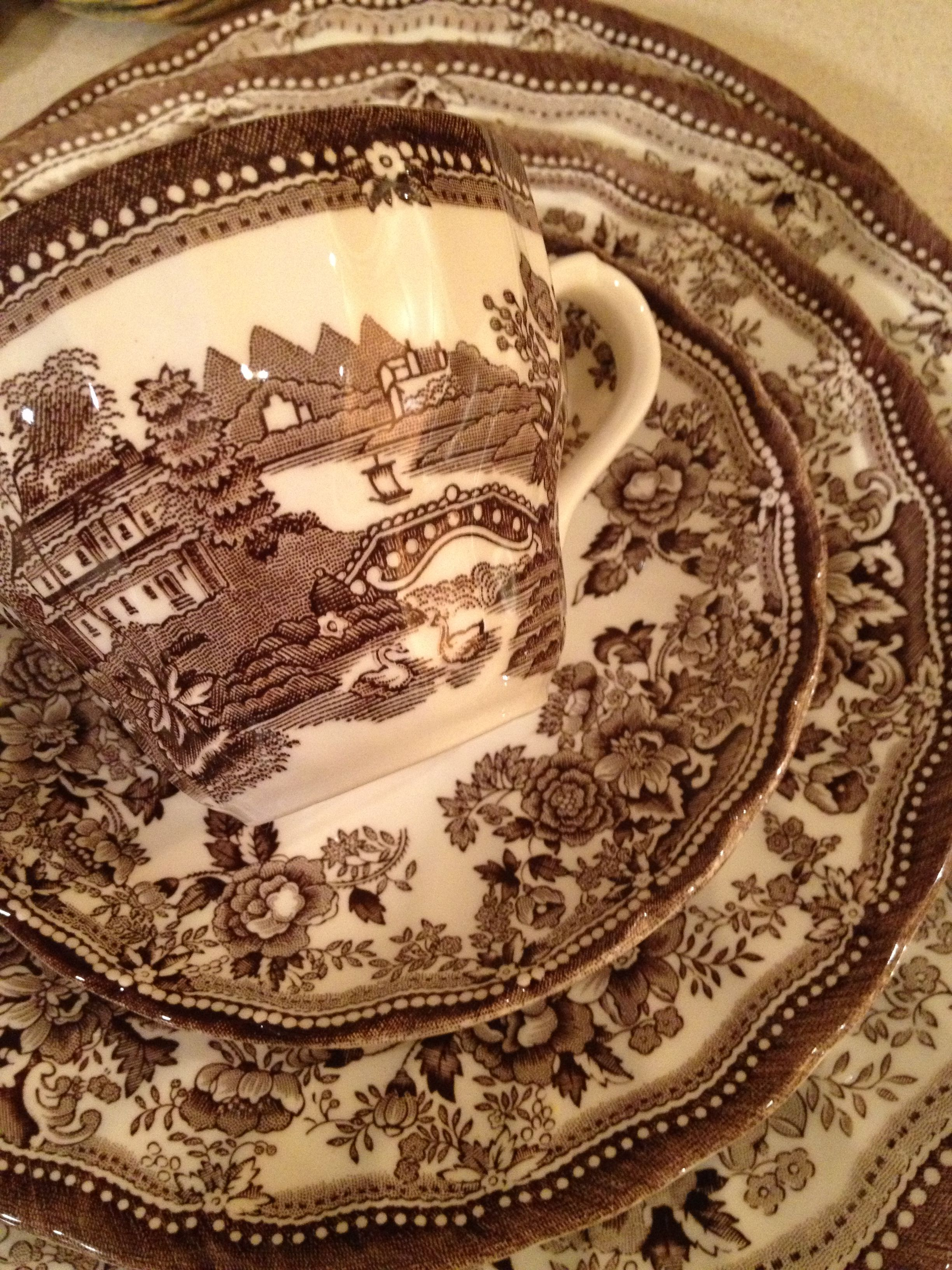 Transferware on Pinterest  Brown Plates and English