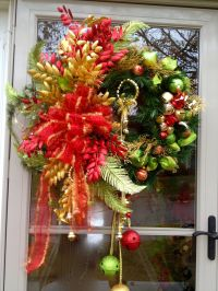 Front door wreath | Wreaths and Bows | Pinterest