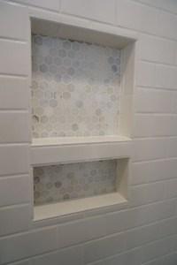 Shower Niche Tiled shower renovation | Bathroom storage ...