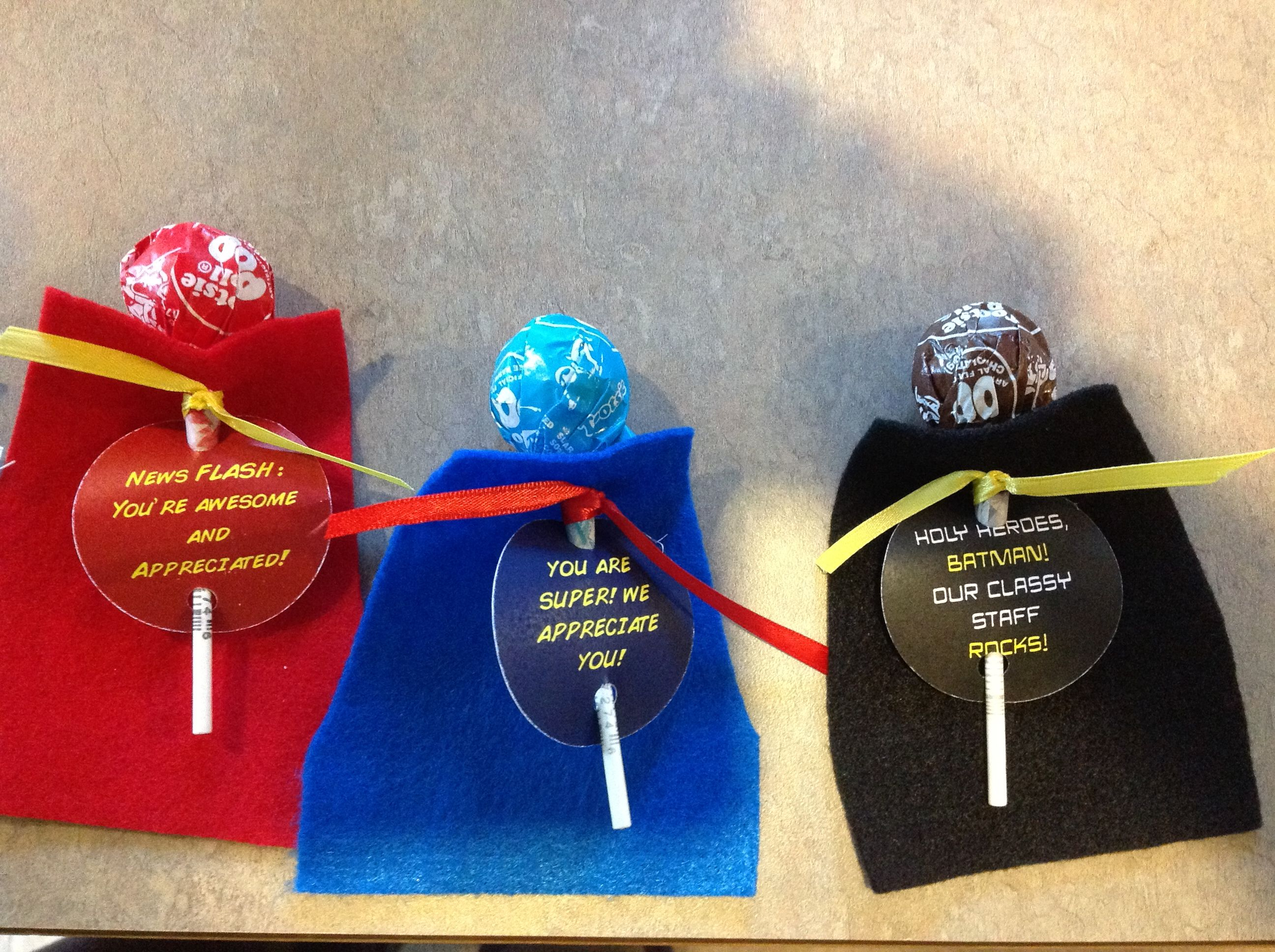Crafty Texas Girls Super Hero Teacher Appreciation Week