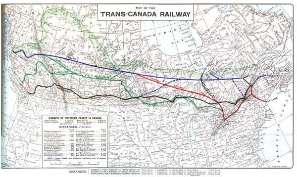 Vintage TransCanada Railway Map TRANSCANADA RAILWAY