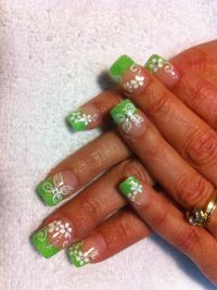 Nails by Hollie- Tinkerbell theme | nail designs | Pinterest