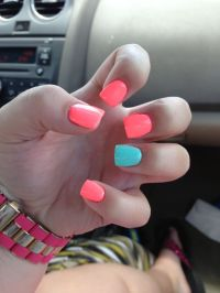 Neon Orange Acrylic Nails | www.imgkid.com - The Image Kid ...