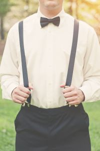 Black Shirt With White Bow Tie And White Suspenders | www ...