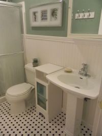 Bathroom with wainscoting | Downstairs apartments | Pinterest