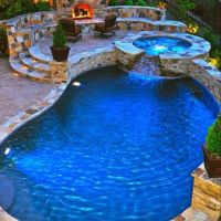 Backyard Grotto/Fireplace | Backyard escapes | Pinterest