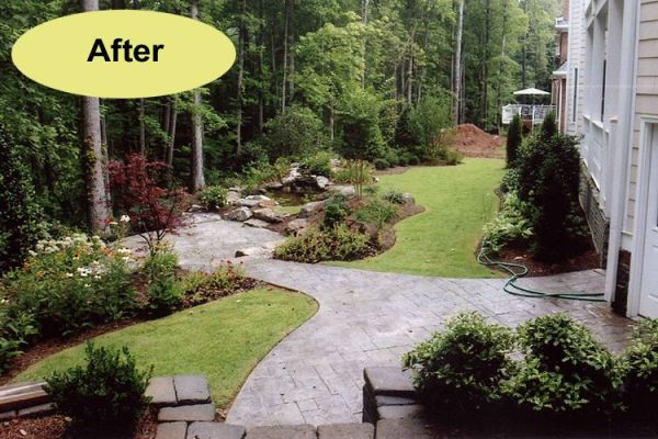 yard hardscape idea