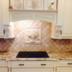 Mexican Backsplash Tiles Kitchen Oil Bronze Faucet Travertine Tumbled Marble Pinterest