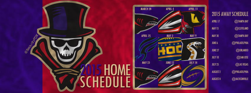 New Orleans Voodoo Facebook schedule