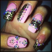 blinged nails 3d nail
