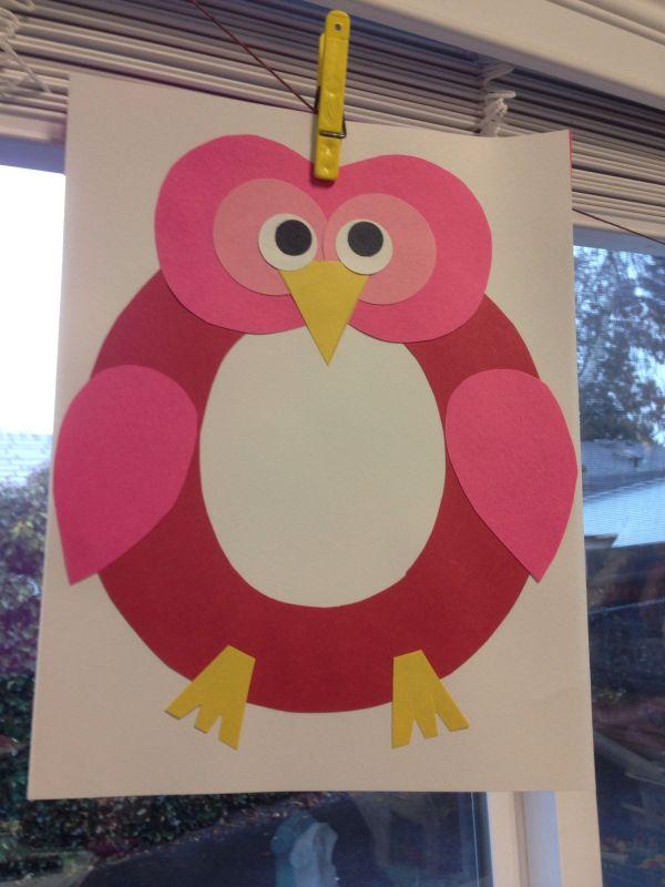 Letter Owl Craft Preschool-abc'