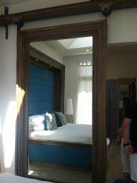 Sliding mirror barn door. Love this | For the Home | Pinterest