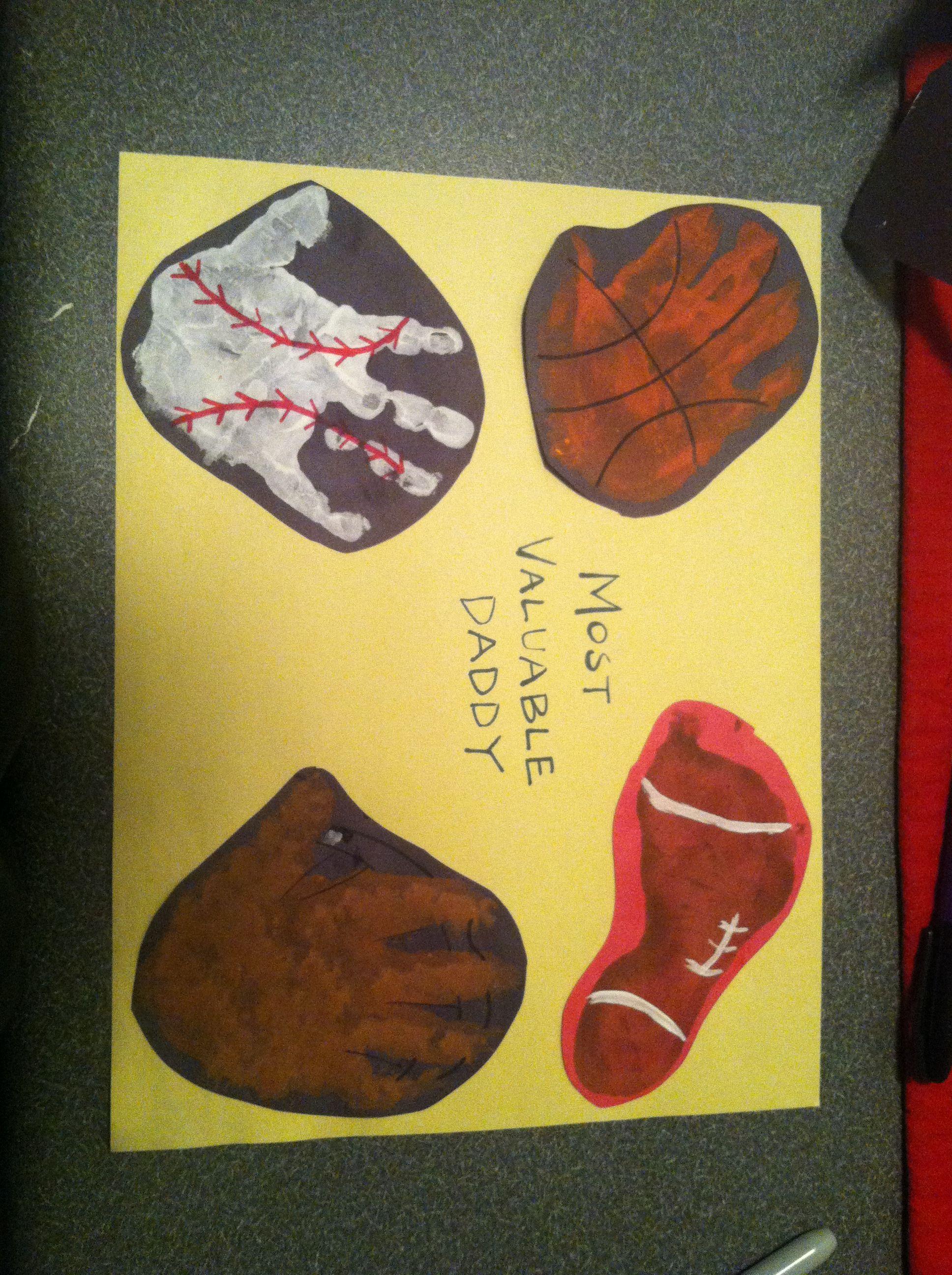 Handprint Sports Theme Craft