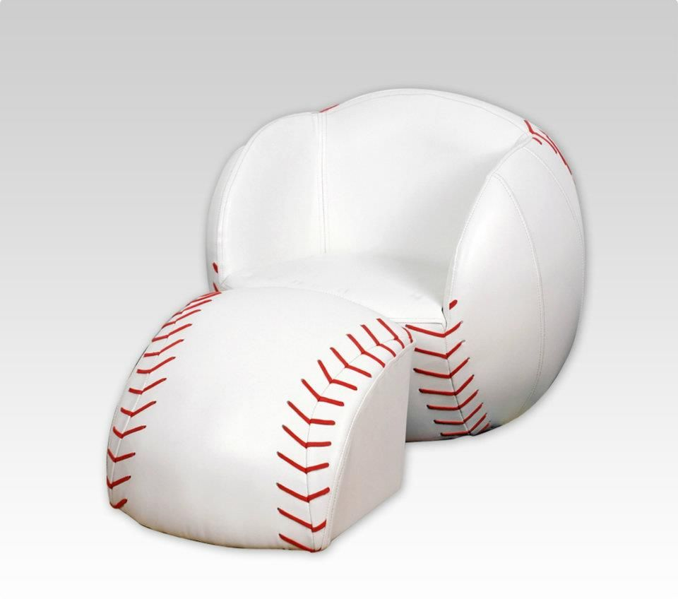 another baseball chair  Sofas Chairs  Ottomans  Pinterest