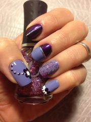 purple nail design nails