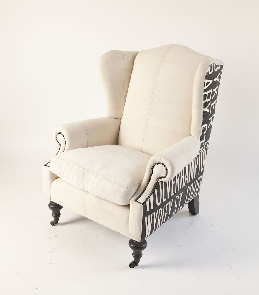 Upholstered Wingback  chairs  Pinterest