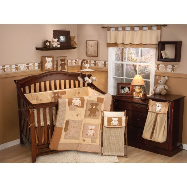 Eddie Bauer Teddy Bear Crib Bedding Baby Boy Nursery