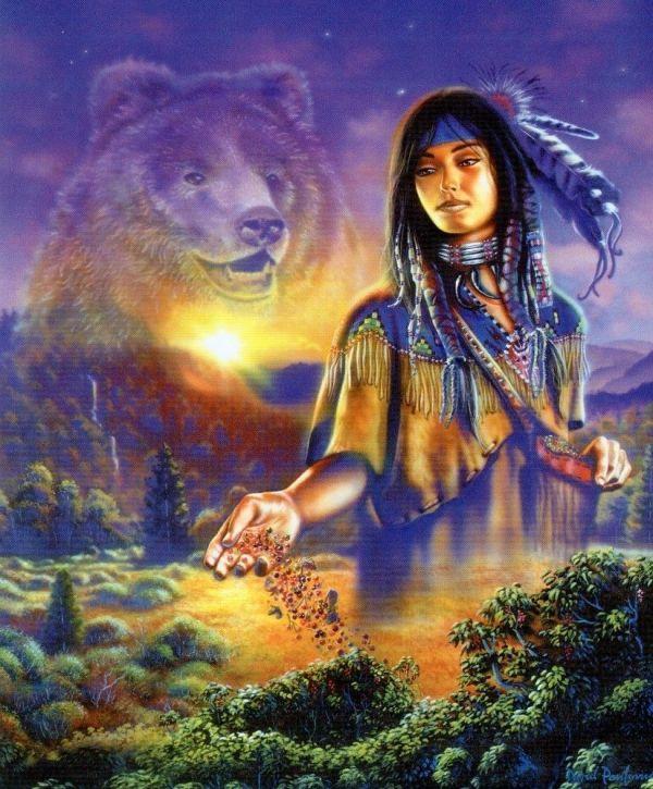 Native American Mother Earth Art