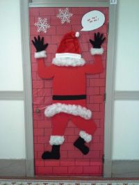 Door decorating contest idea - Santa | Lara | Pinterest