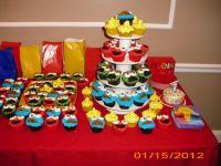 Sesame street cupcakes | Sesame Street Baby Shower | Pinterest