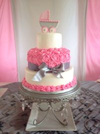 Girl baby shower cake | Fondant ideas | Pinterest