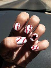 baseball nail art style