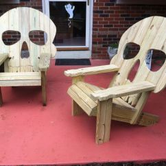 Wooden Skull Chair Dining Covers At Ikea Adirondack Chairs Holiday Fun Pinterest