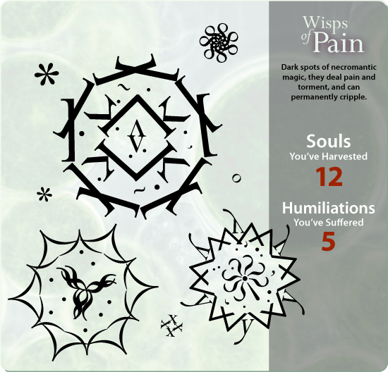 Wisps of Pain mockup (font: Perpetua)
