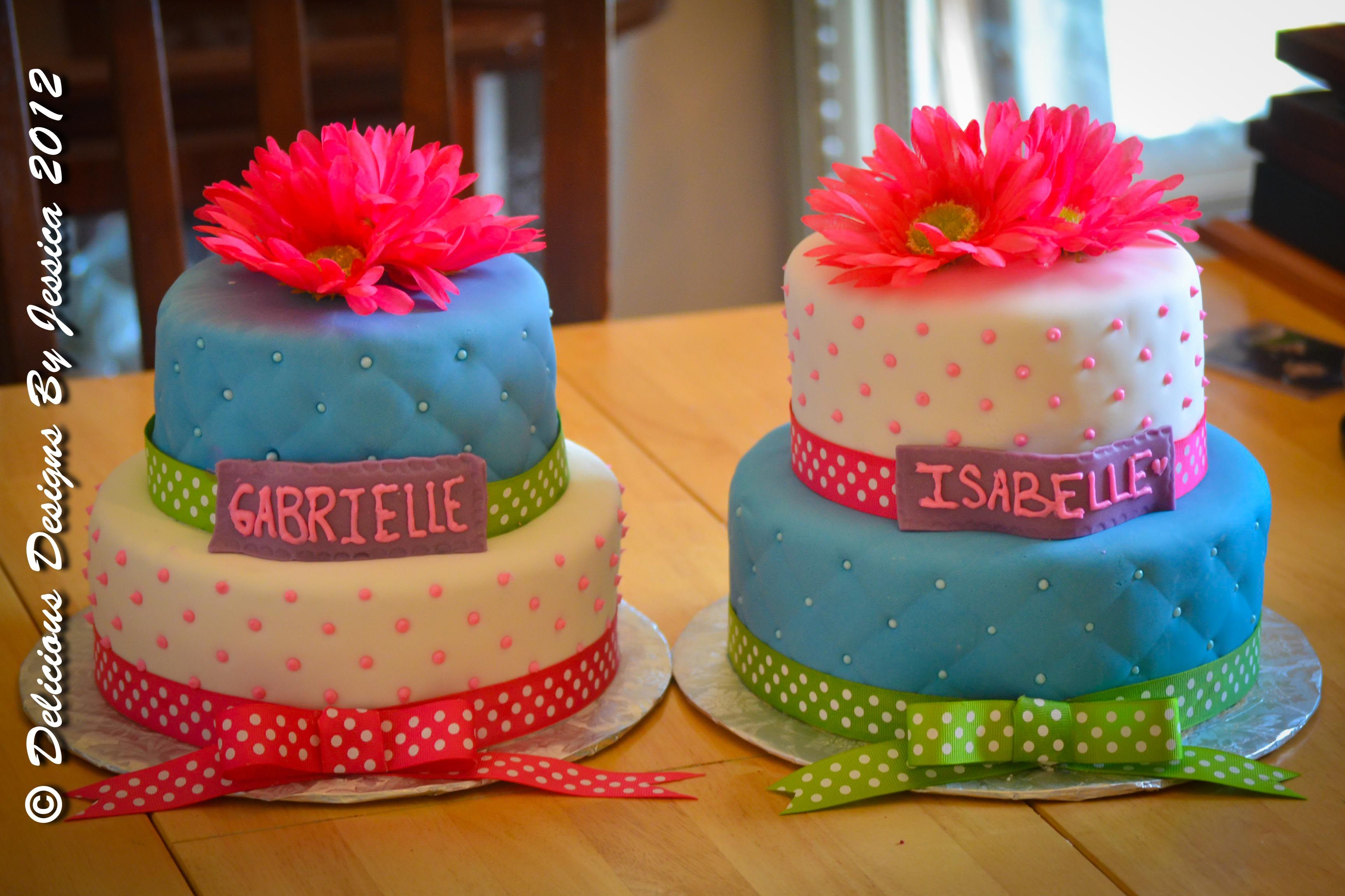 Twin Girl Birthday Cakes