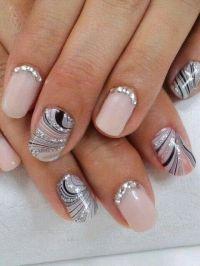 Silver swirl nails. | Nail Art | Pinterest