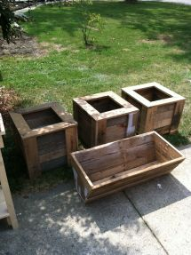 Pallet Planter Boxes Outdoor Furniture