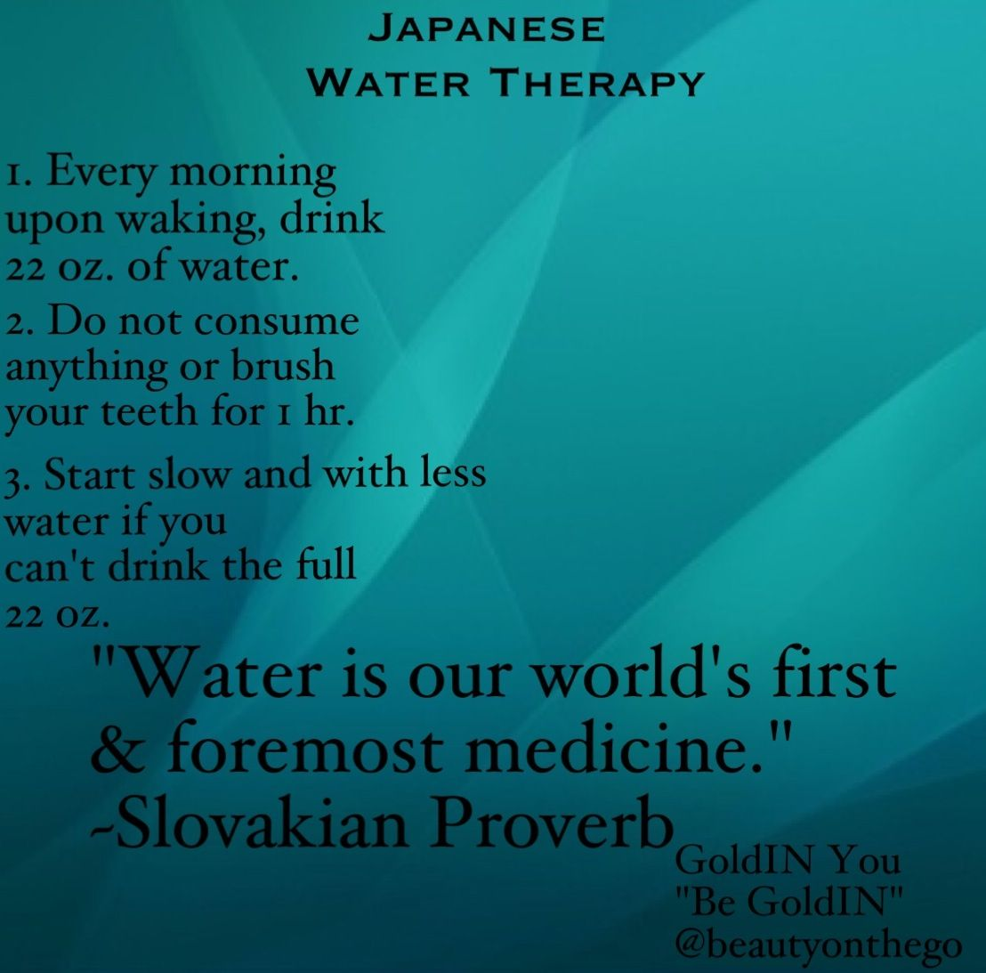 japanese water therapy for weight loss