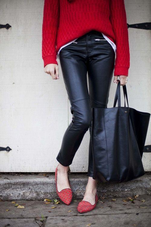 Pantalones de piel negro,  outfit pantalones de piel negro, outfit chic