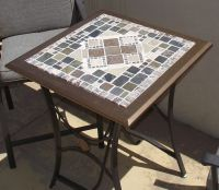 Upcycled Mosaic Tile Patio Table | Outdoor Space | Pinterest