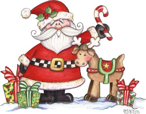 santa and reindeer christmas