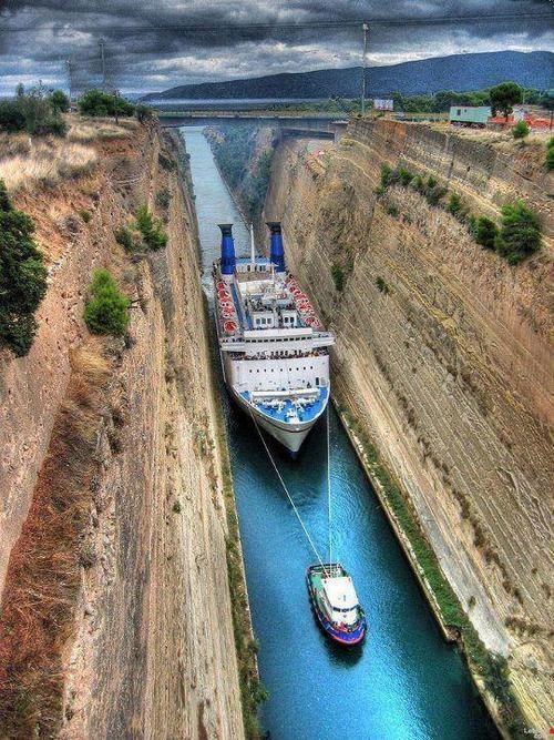 Коринтския канал, Гърция