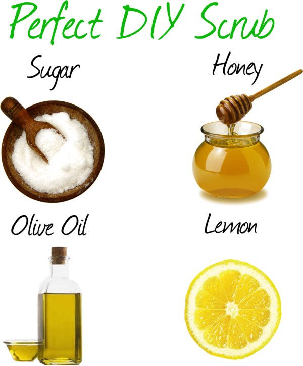 Sugar + Honey + Olive Oil + Lemon = Perfect DIY Scrub