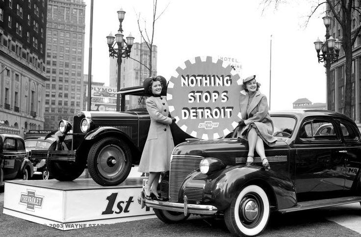 """Nothing stops Detroit"" Chevrolet 1939"