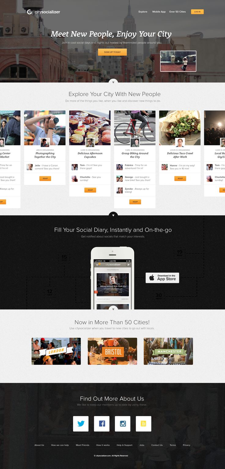 citysocializer - New Homepage