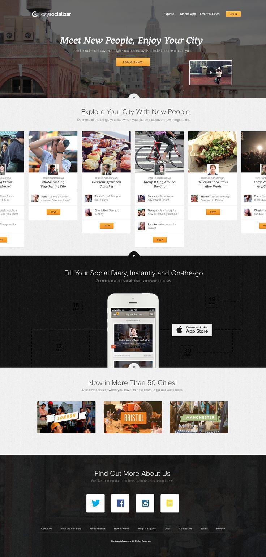 citysocializer - New Homepage