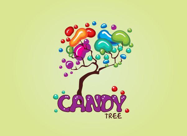 candy tree, Kids Logo Design