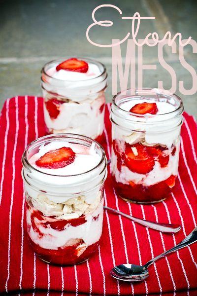 Eton Mess – najlepszy deser z truskawkami na lato. Deserm z bezami ...