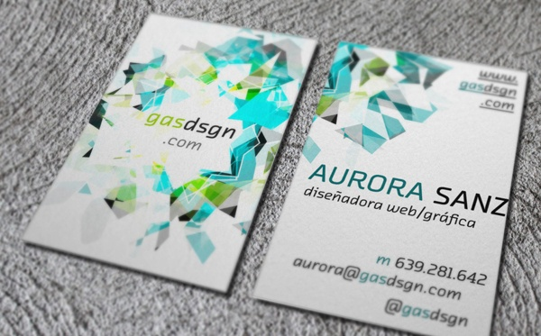 Personal Bussines Card by Aurora Sanz, via Behance