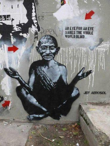 Gandhi Graffiti.