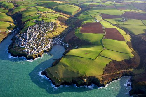 Port Isaac and the neighbouring coast of North Cornwall captured...