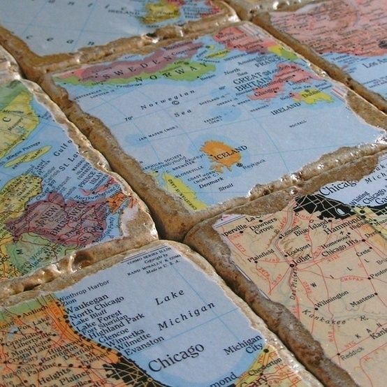 Coasters from the places you have traveled.