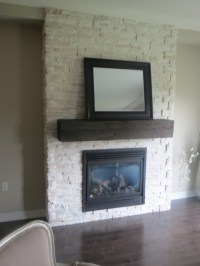 Floor to ceiling stone fireplace | New House | Pinterest