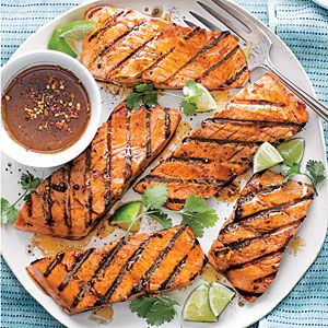 Firecracker Grilled Salmon | MyRecipes.com